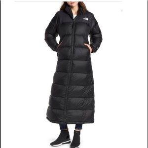 North Face long puffer coat